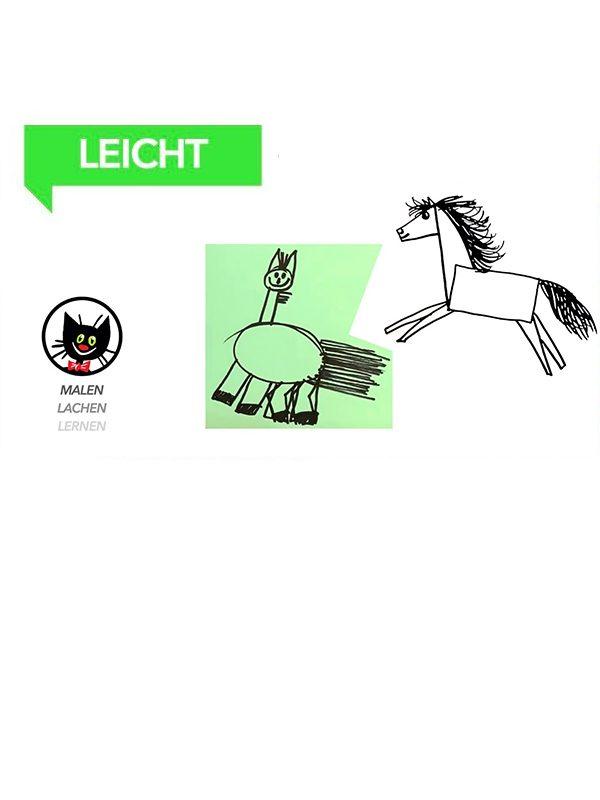 Wie malt man zwei lustige Pferdchen