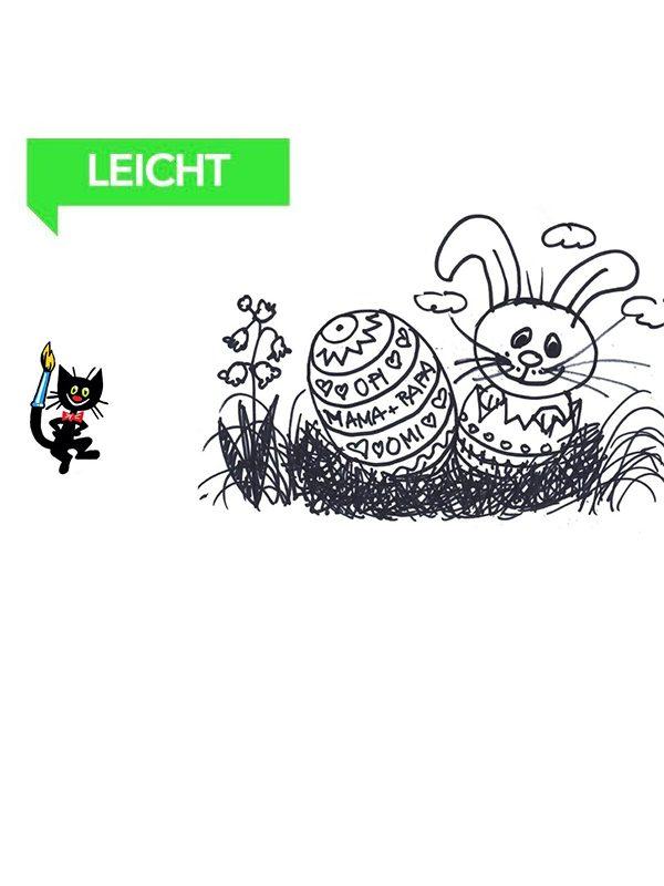 Wie malt man einen Osterhasen