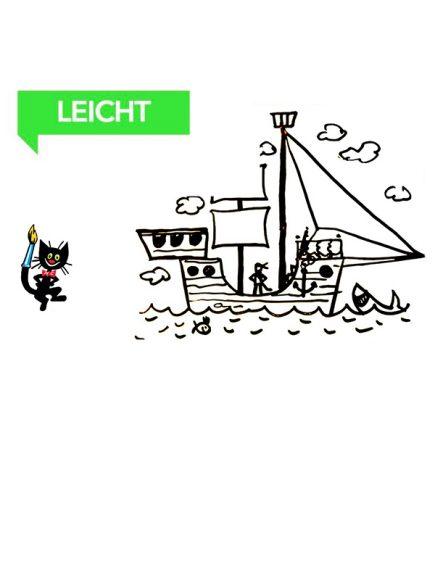 Wie malt man ein Piratenschiff – Malen für Kinder (ab 5 Jahre)