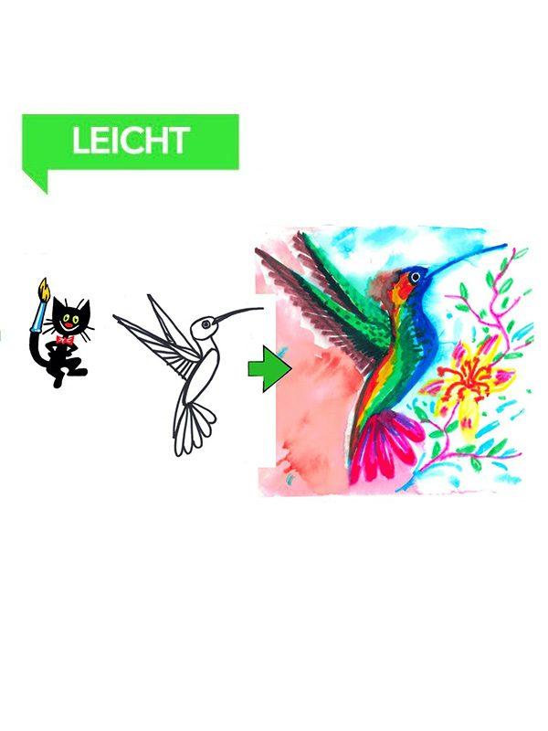 Wie malt man einen Kolibri