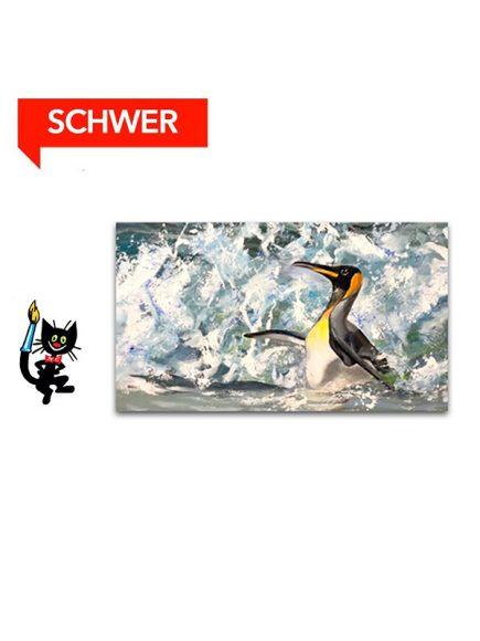 Pinguin – [Acryl, Leinwand, Querformat]