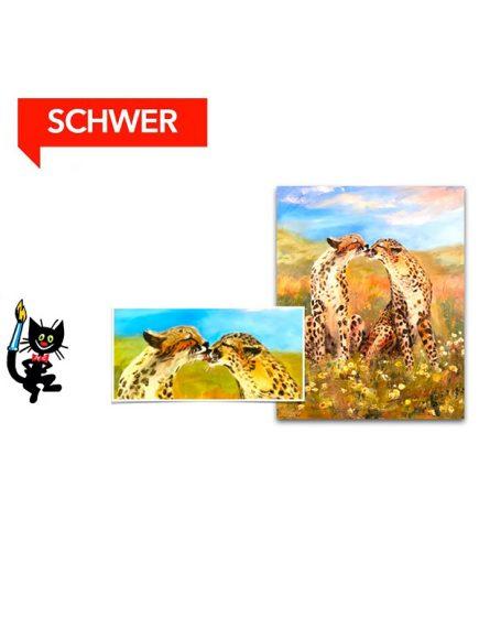 Geparden – [Acryl, Leinwand, Hochformat]
